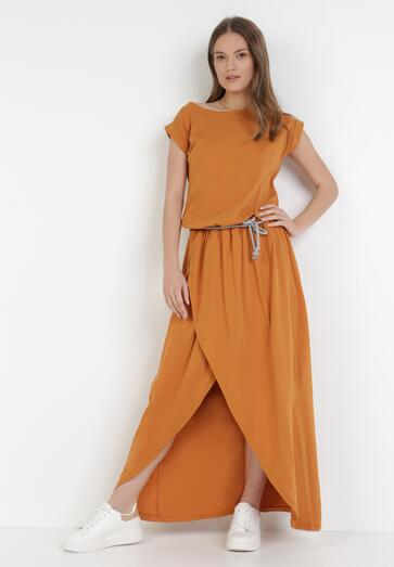 Camelowa Sukienka Aethenoire
