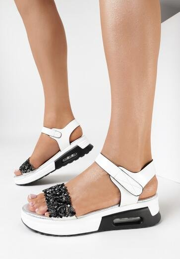 Białe Sandały Kahlinos