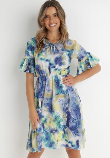 Niebieska Sukienka Meredine