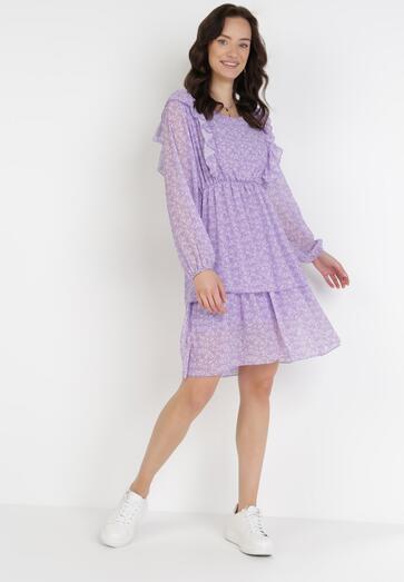 Liliowa Sukienka Daliviane