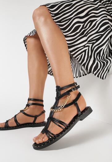 Czarne Sandały Thalanise