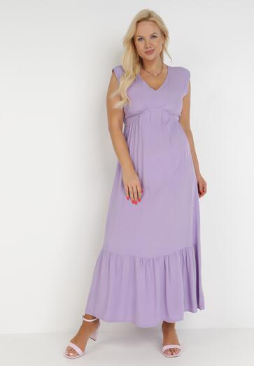 Liliowa Sukienka Astrali