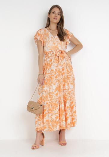 Pomarańczowa Sukienka Nesyse