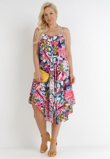 Fioletowo-Różowa Sukienka Enalouen