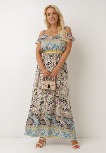 Beżowa Sukienka Xephira
