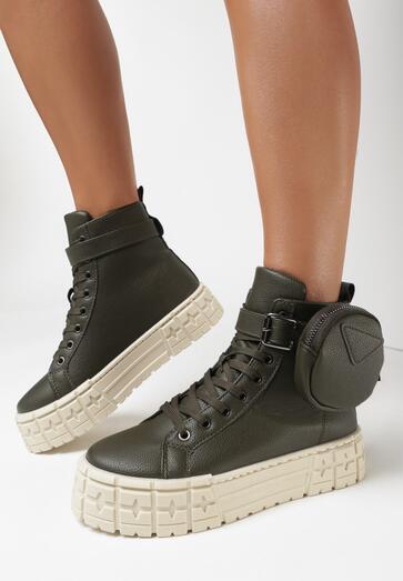 Oliwkowe Sneakersy Chunte