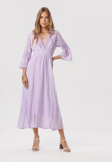 Jasnofioletowa Sukienka Neamemenis