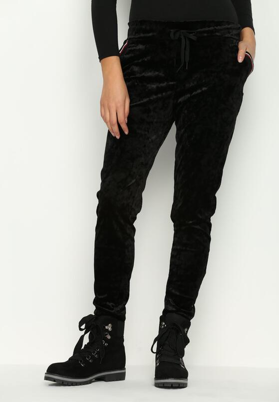Czarne Spodnie Dresowe Glowing