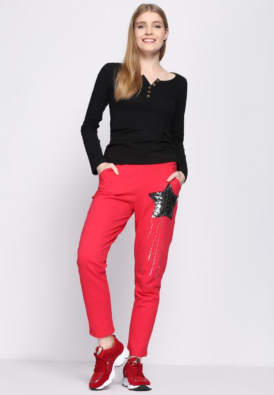 Czerwone Spodnie Dresowe Star