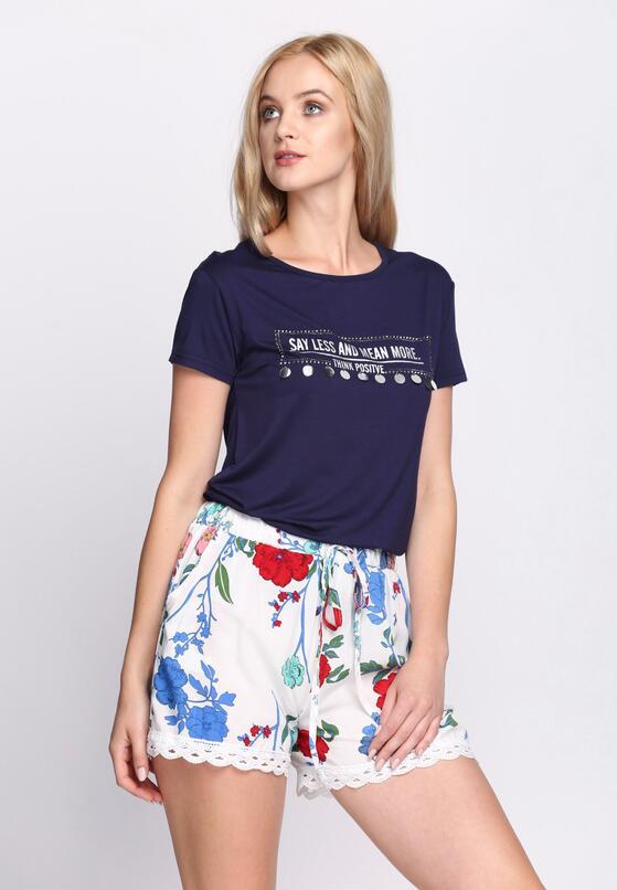Granatowy T-shirt Positive