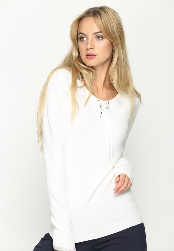 Biały Sweterek Shift