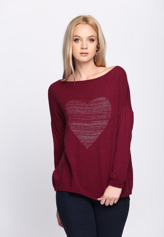 Bordowy Sweter Minnesota