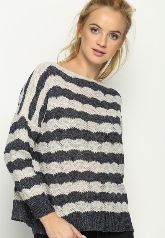 Beżowy Sweter Raider