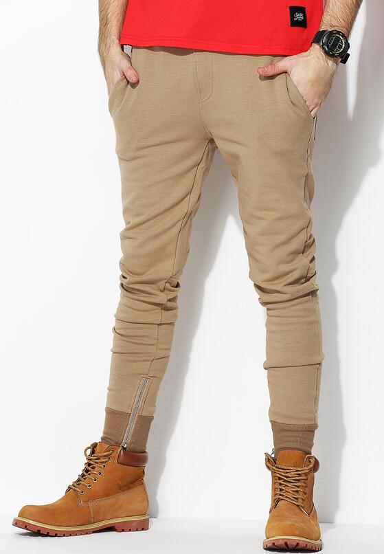 Beżowe Spodnie Dresowe Sufficient