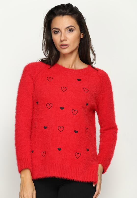 Czerwony Sweter Hearts Beat