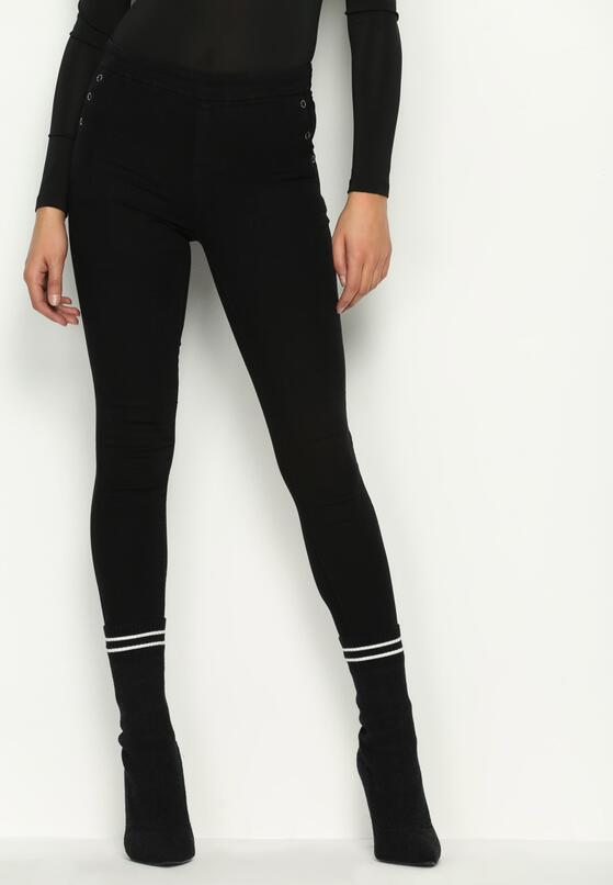 Czarne Spodnie Trois Buttons