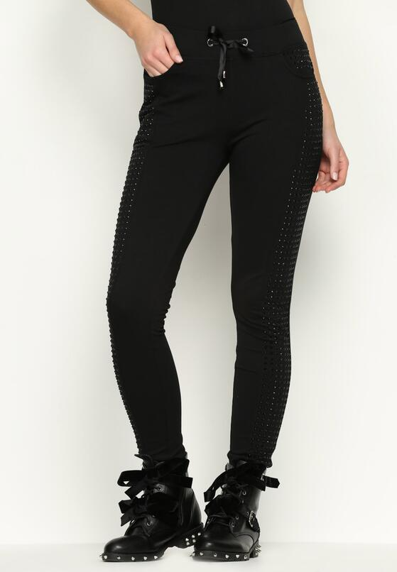 Czarne  Spodnie Crystals Night