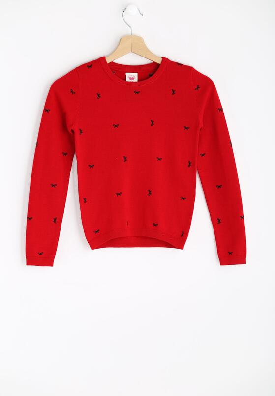 Czerwony Sweter Fancy Girl