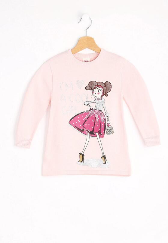 Jasnoróżowy Sweter Cool Girl