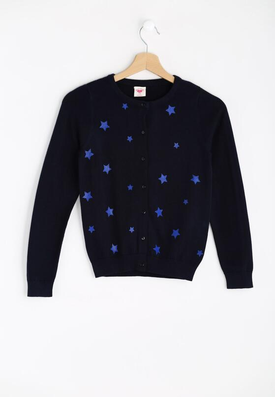 Granatowy Sweterek Joyful Stars