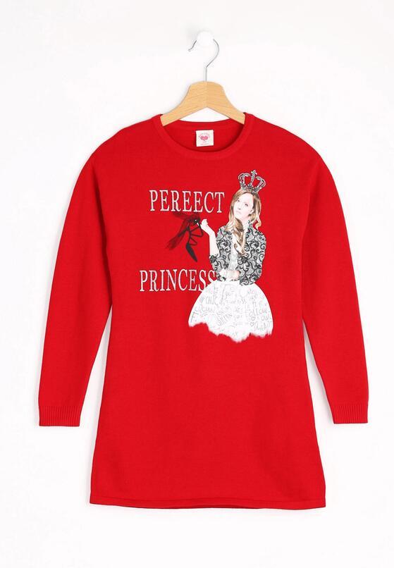 Czerwona Sukienka Perfect Princess
