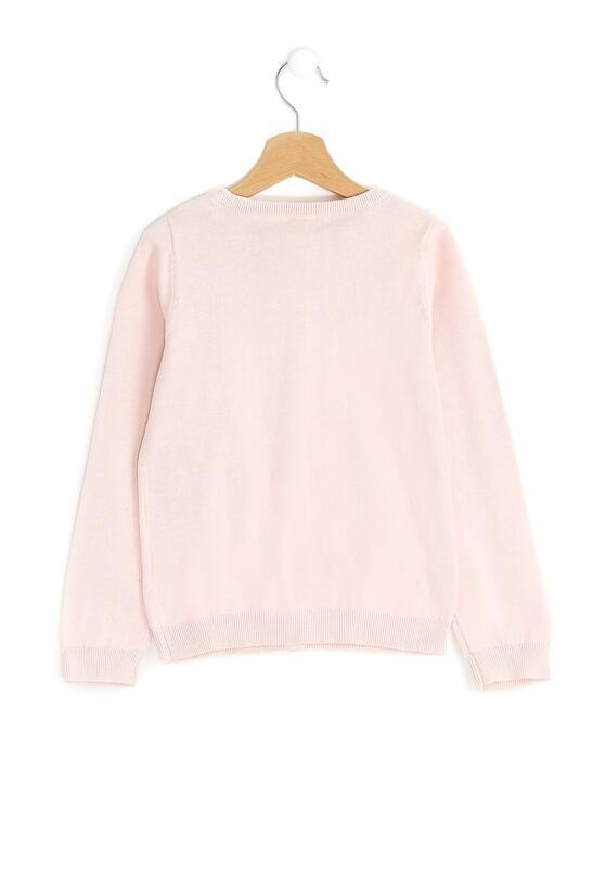 Różowy Sweter Flowing