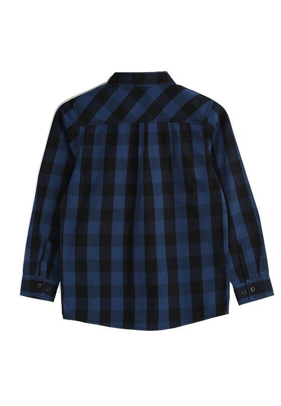 Granatowa Koszula Check