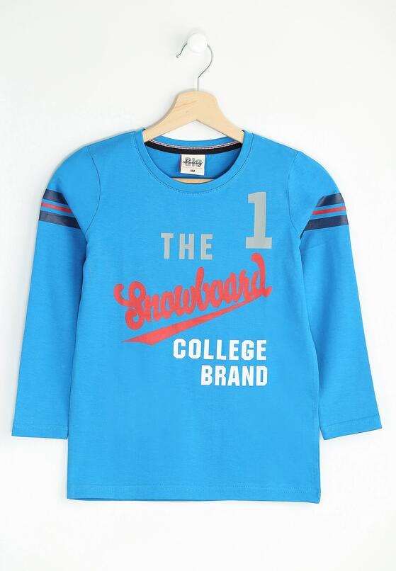 Niebieska Koszulka Brand