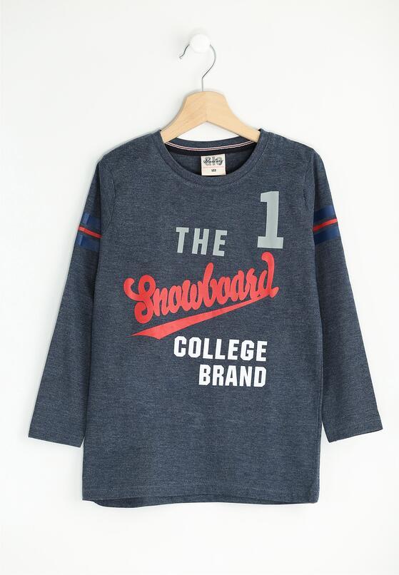 Ciemnoniebieska Koszulka Brand