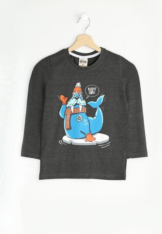 Ciemnoszara Koszulka Cool