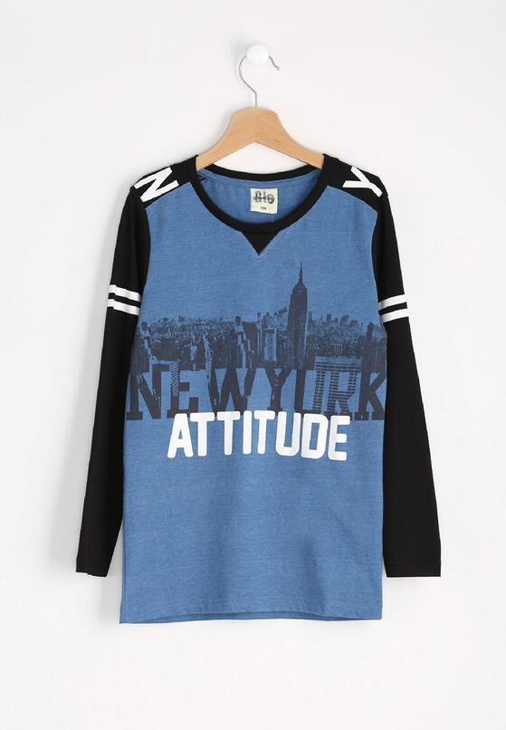 Niebieska Koszulka Attitude