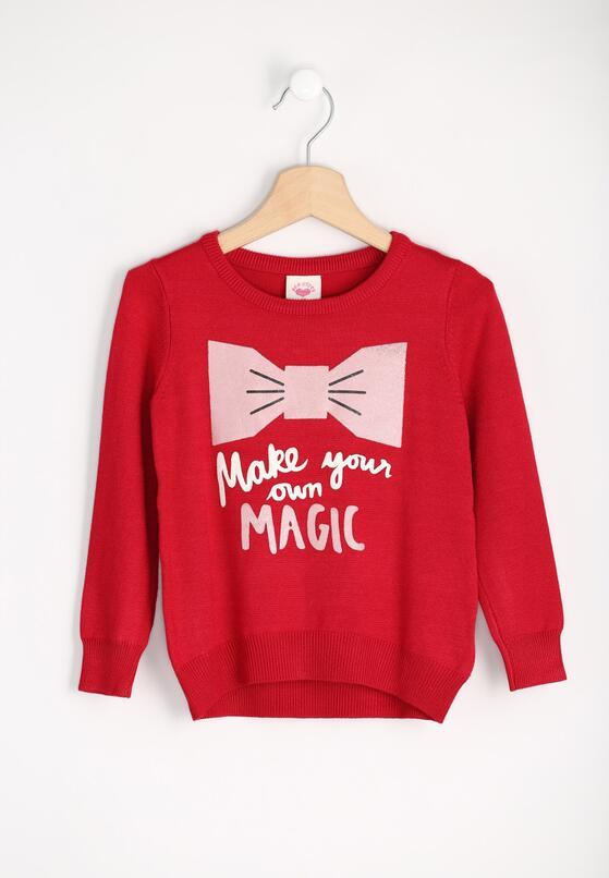 Czerwony Sweter Own Magic