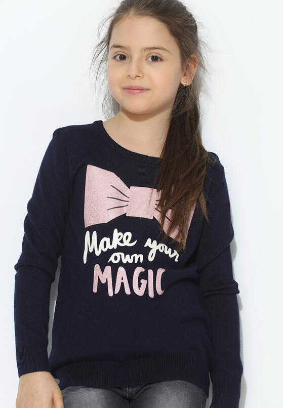 Granatowy Sweter Own Magic