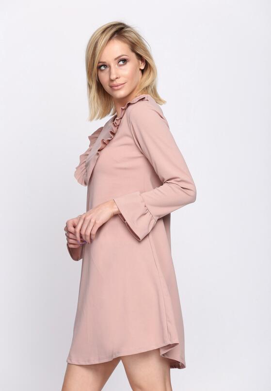 Różowa Sukienka Female
