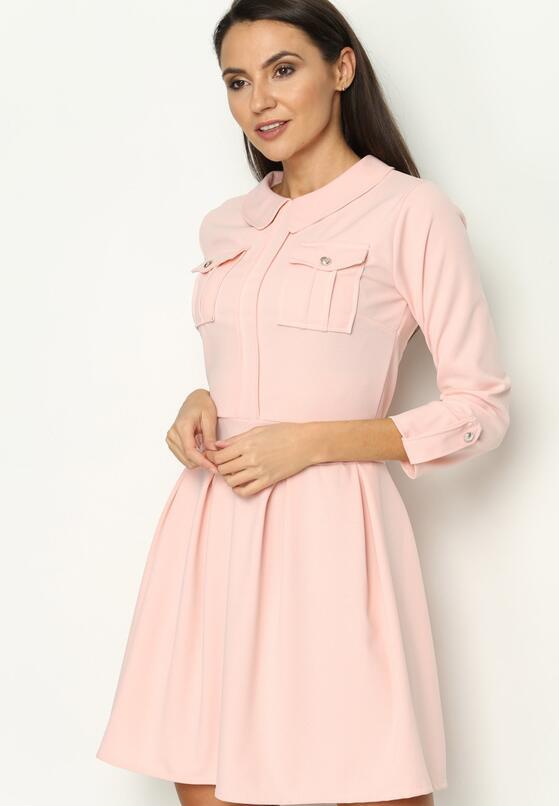 Różowa Sukienka Restrict