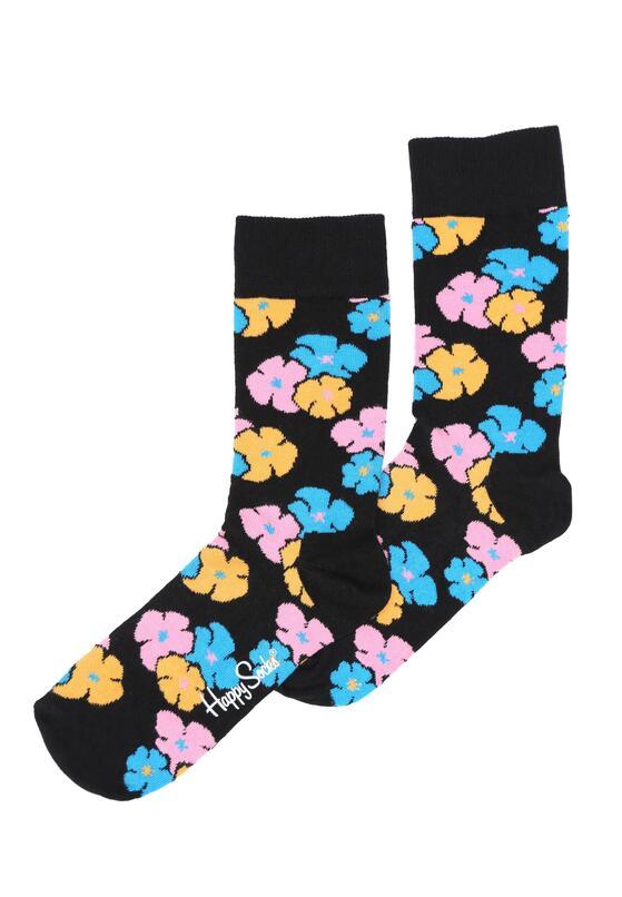 Czarne Skarpetki Kimono Happy Socks