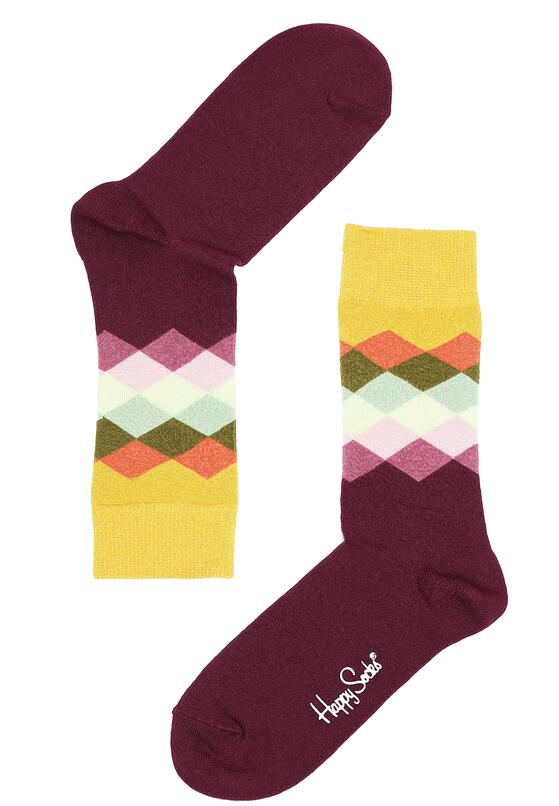Bordowe Skarpetki Faded Diamond Happy Socks
