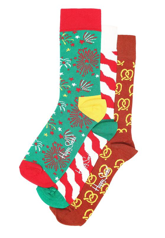 3-Pack Światecznych Skarpetek Happy Socks