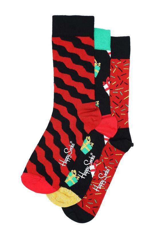 3-pack Swiątecznych Skarpet Happy Socks