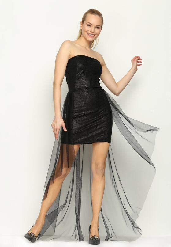 Czarna Sukienka Ball Gown