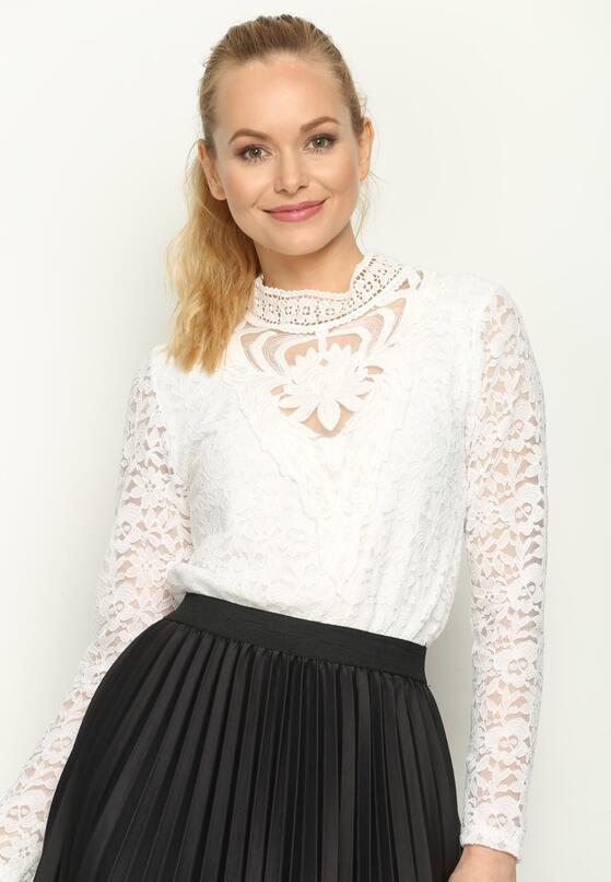 Biała Bluzka Victorian