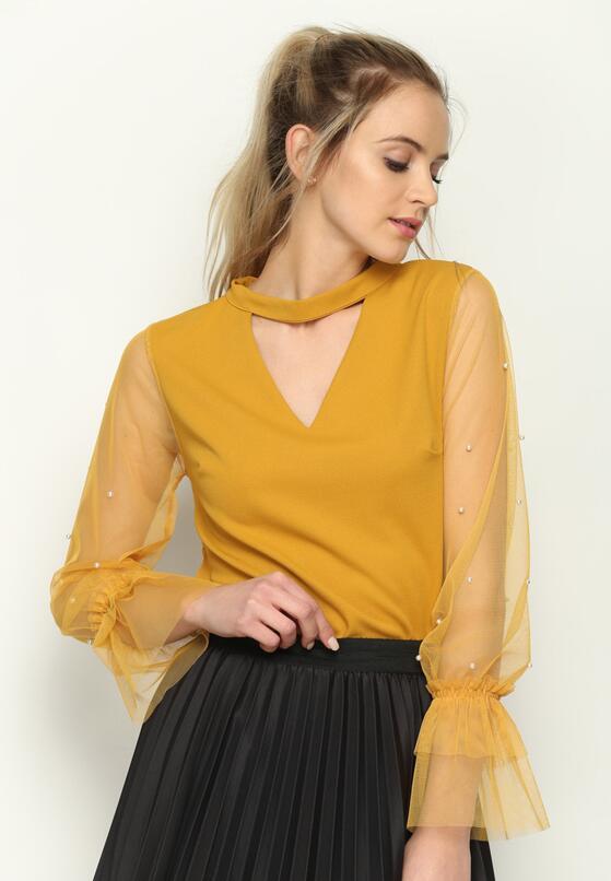 Żółta Bluzka Lady Land