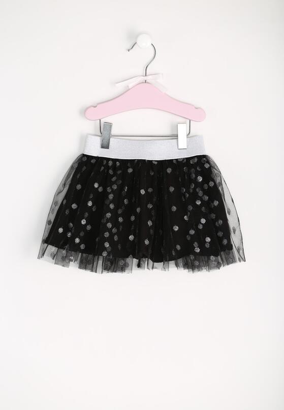 Czarna Spódnica Tulle Dots