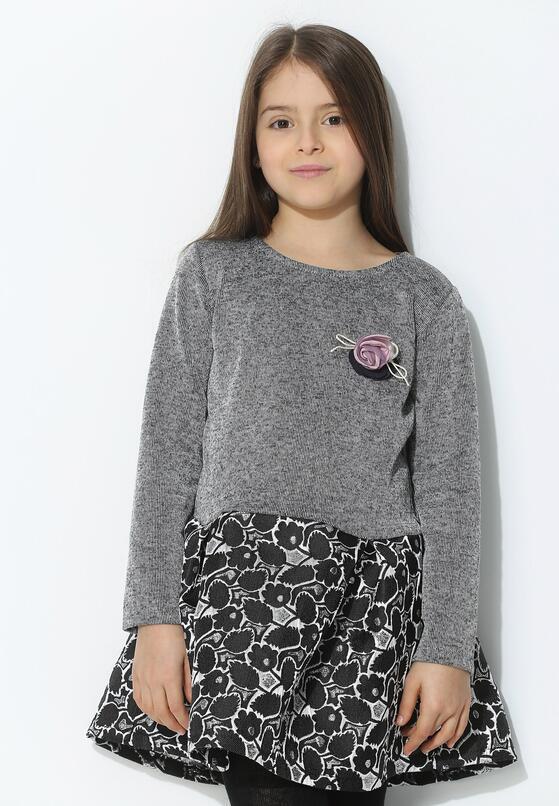 Szara Sukienka Little Rose