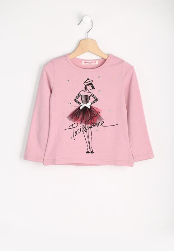 Różowa Bluzka Tulle