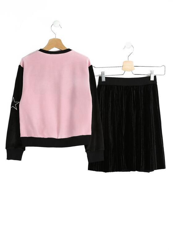 Różowo-Czarny Komplet Perfect Girl