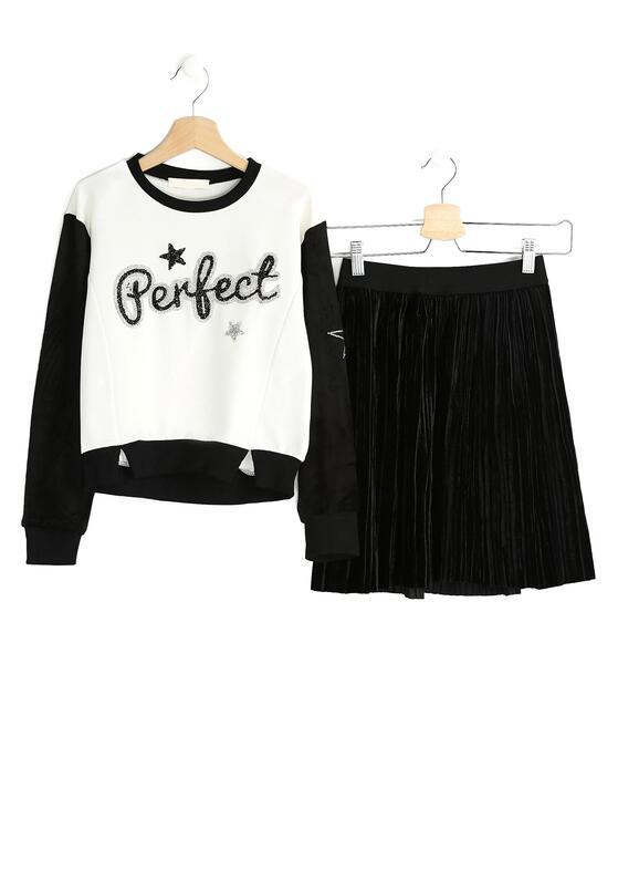 Biało-Czarny Komplet Perfect Girl