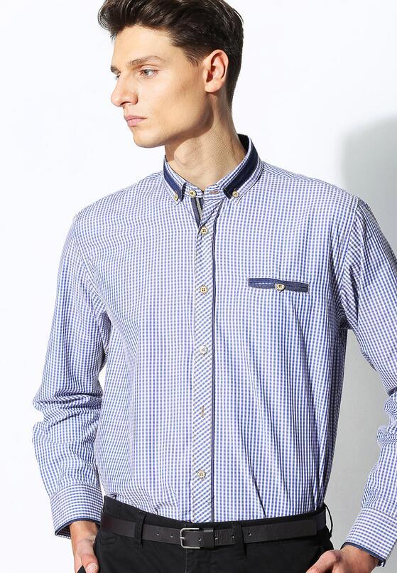 Niebiesko-Beżowa Koszula Patch