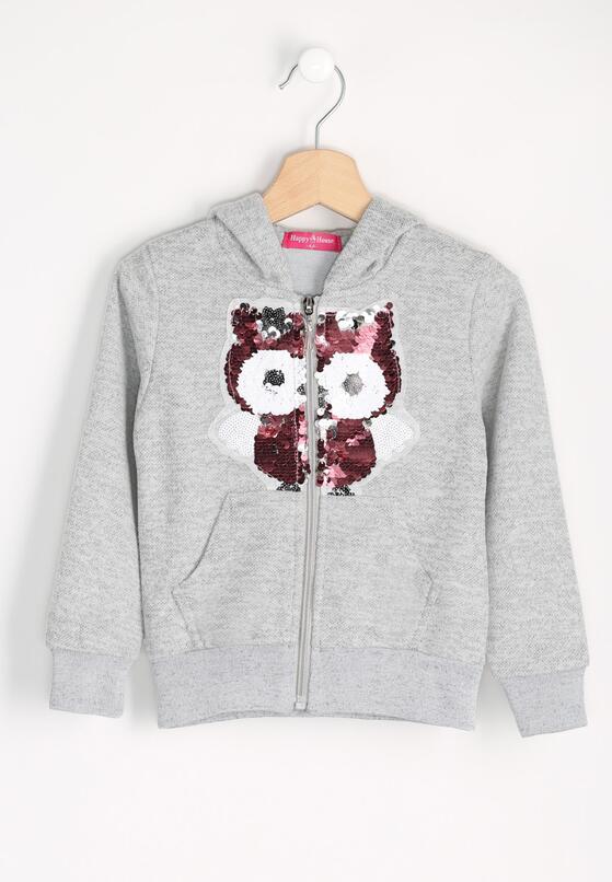Szara Bluza Owl