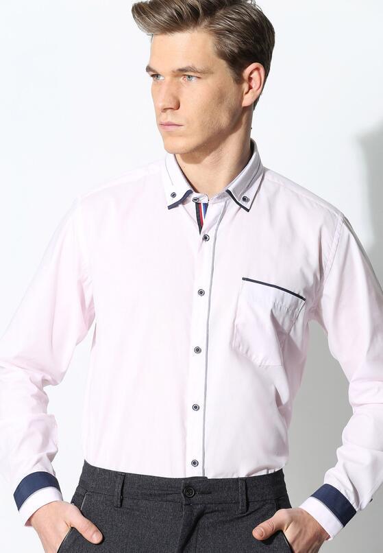 Jasnoróżowa Koszula Business Class
